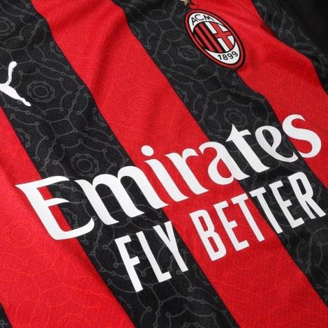Домашняя игровая футболка Милан 2020-2021 титульный спонсор