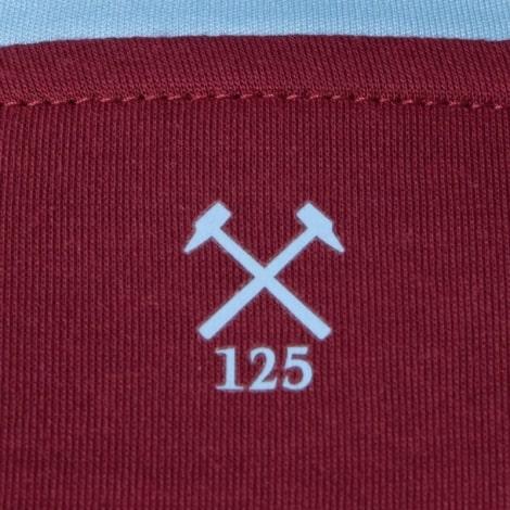 Комплект детской домашней формы Вест Хэм 2020-2021 футболка воротник сзади Лингард