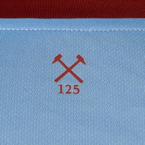 Комплект детской гостевой формы Вест Хэм 2020-2021 футболка воротник сзади