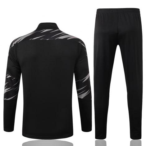Черно-серый костюм Боруссии Дортмунд 2021-2022 сзади