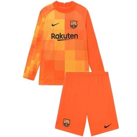 Оранжевая вратарская форма Барселоны с длинными рукавами 2021-2022