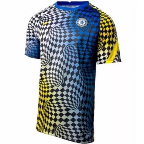 Разноцветная тренировочная футболка Челси 21-22