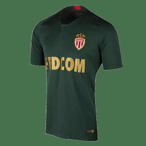 Гостевая игровая футболка Монако 2018-2019 сбоку