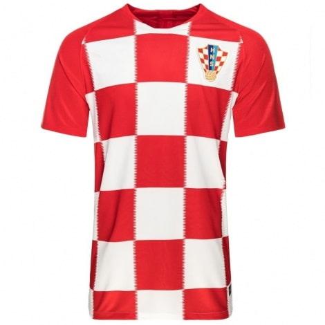 Домашняя футболка Хорватии Марио Манджукич номер 17 ЧМ 2018 спереди