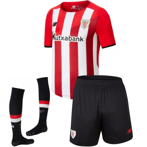 Детский комплект домашней формы Атлетик Бильбао 2021-2022 футболка шорты и гетры