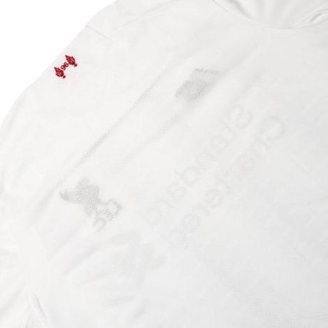Женская гостевая футболка Ливерпуля 2019-2020 сзади