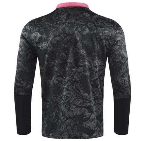 Черно-розовый костюм Реал Мадрид 2021-2022 кофта сзади