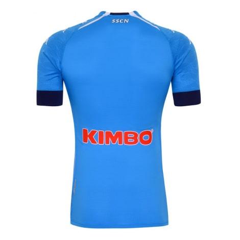 Комплект детской домашней формы Наполи 2020-2021 футболка сзади