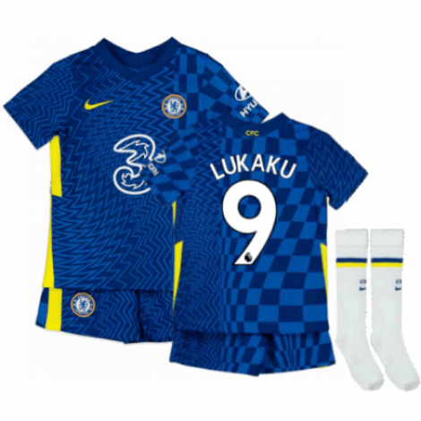 Детская домашняя форма Челси Ромелу Лукаку 2021-2022