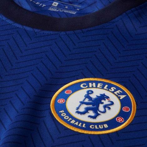 Домашняя форма Челси 2020-2021 c длинными рукавами футболка герб клуба