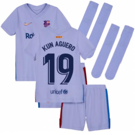 Детская гостевая футбольная форма Кун Агуэро 2021-2022