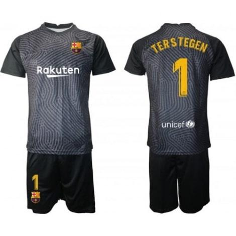 Вратарская черная футбольная форма Тер Штеген 2020-2021