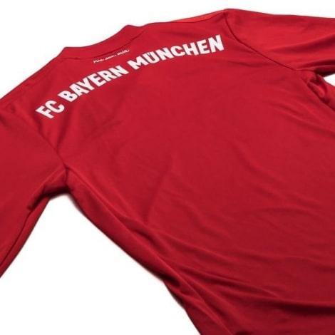 Взрослая домашняя форма Баварии с длинным рукавом 19-20 футболка сзади