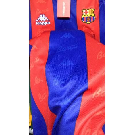 Домашняя ретро футболка Барселоны 1996-1997 текстура ткани