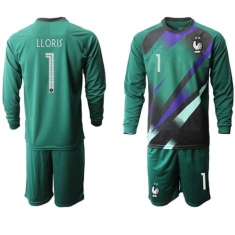 Зеленая форма сборной Франции LLORIS с длинными рукавами