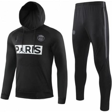Черный тренировочный костюм ПСЖ 2020-2021