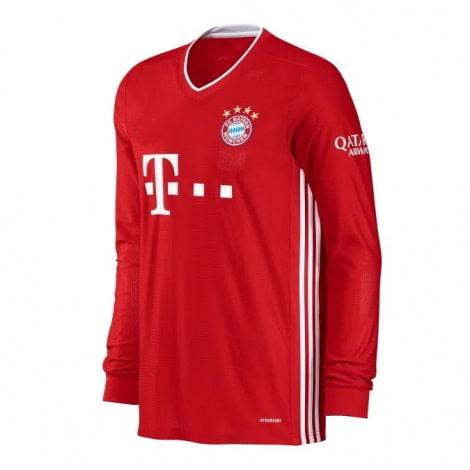 Домашняя форма Баварии с длинными рукавами 20-21 футболка сбоку