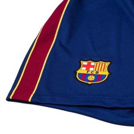 Комплект детской домашней формы Барселоны 2020-2021 шорты герб клуба