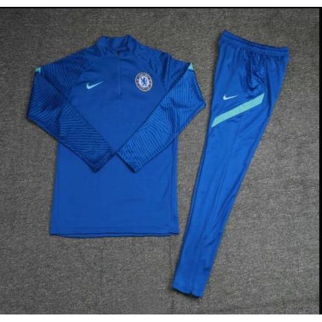 Голубой тренировочный костюм Челси 2021-2022