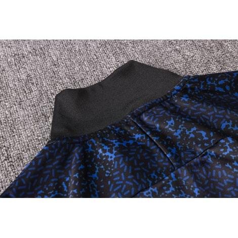 Темно-синий тренировочный костюм Интера 2021-2022 воротник сзади