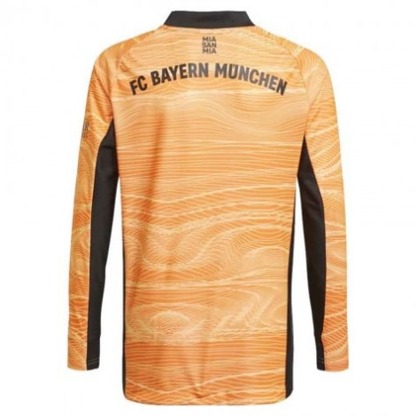 Вратарская оранжевая футбольная форма Бавария 2021-2022 футболка сзади