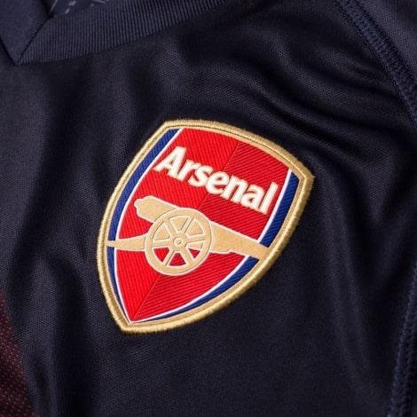 Гостевая футболка Арсенала Генрих Мхитарян номер 7 2018-2019 герб клуба