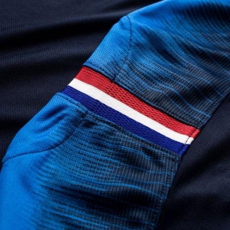 Детская домашняя форма Франции ЧМ 2018 длинные рукава сзади