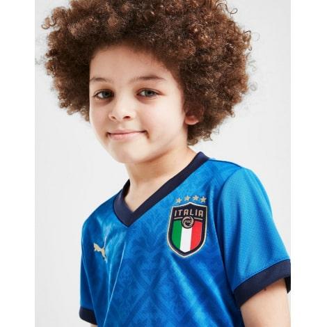 Детская домашняя футбольная форма Италии на ЕВРО 2020-21 футболка шорты и гетры