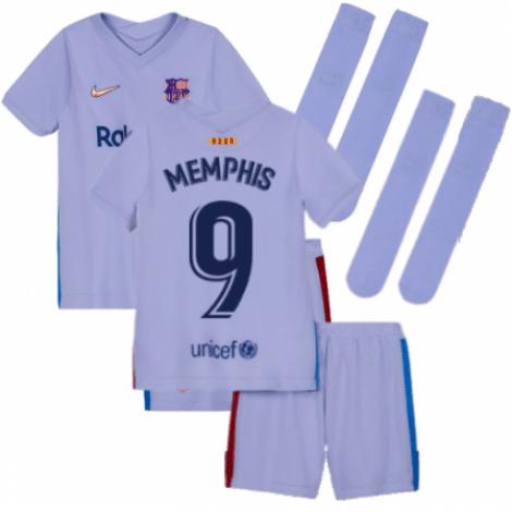Детская гостевая футбольная форма Мемфис Депай 2021-2022