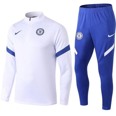 Бело-синий тренировочный костюм Челси 2021-2022