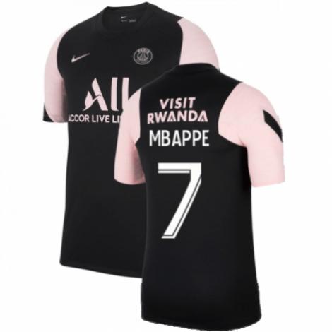 Черно-розовая футболка MBAPPE ПСЖ 2021-2022