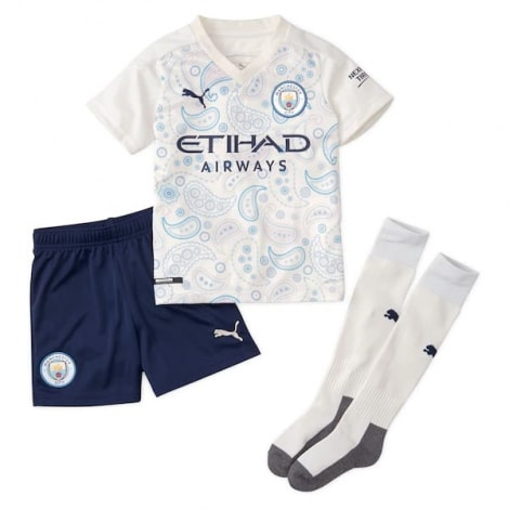 Детская третья форма Манчестер Сити 2020-2021 футболка шорыт и гетры
