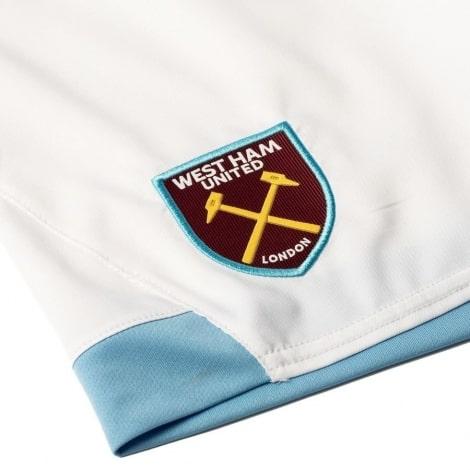 Шорты детской домашней формы Вест Хэм 2018-2019 герб клуба