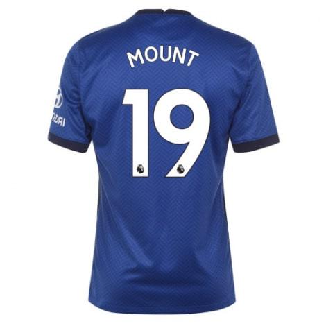 Домашняя игровая футболка Челси 2020-2021 Мейсон Маунт