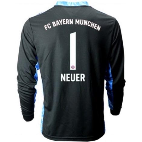 Черная футболка Нойер с длинными рукавами 2020-2021