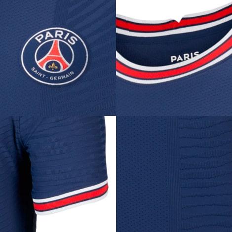 Домашняя игровая футболка ПСЖ 2021-2022 логотипы