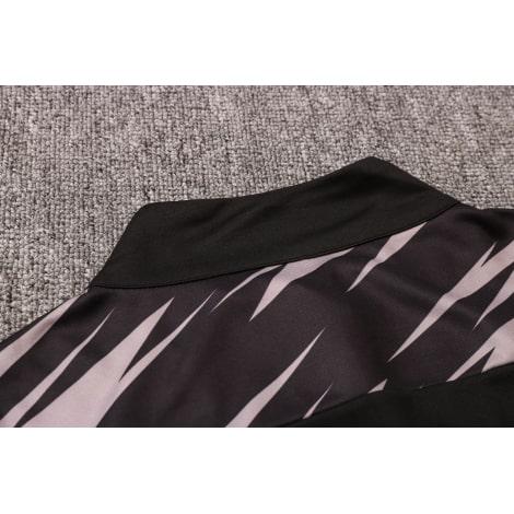 Черно-серый костюм Боруссии Дортмунд 2021-2022 воротник сзади
