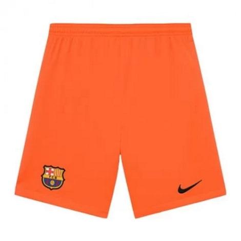 Оранжевая вратарская форма Барселоны с длинными рукавами 2021-2022 шорты
