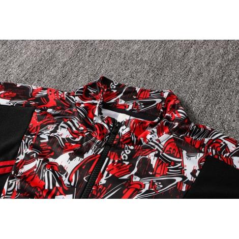 Красно-черный спортивный костюм Милан 2021-2022 воротник