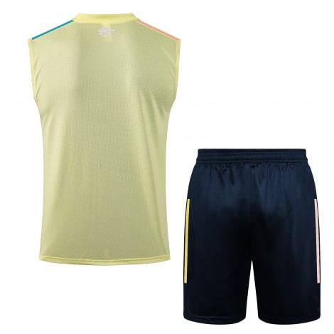 Желто-синяя тренировочная форма Арсенала 2021-2022 сзади