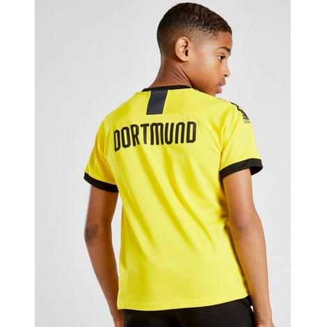 Комплект детской домашней формы Боруссии 2019-2020 футболка и шорты на ребенке