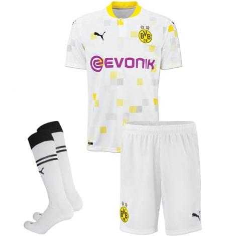 Комплект взрослой третьей формы Боруссии Дортмунд 2020-2021 футболка шорты и гетры