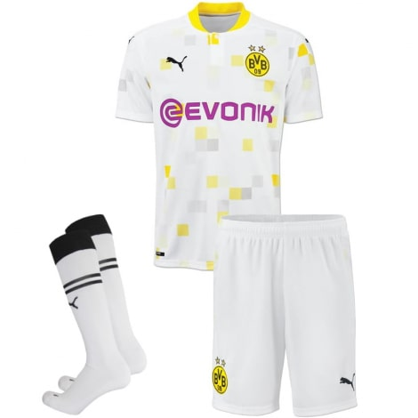 Комплект детской третьей формы Боруссии 2020-2021 Холанн футболка шорыт и гетры