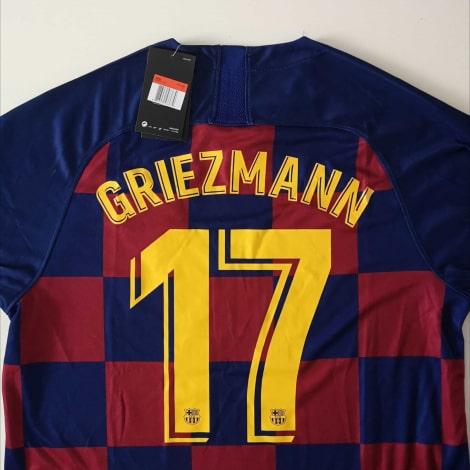 Домашняя футболка Барселоны 2019-2020 Антуан Гризманн номер 17