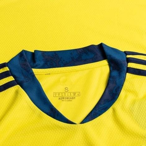 Вратарская гостевая футболка Манчестер Юнайтед 2020-2021 воротник