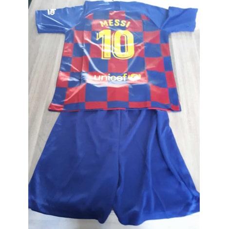Детская домашняя футбольная форма Месси 2019-2020 футболка шорты