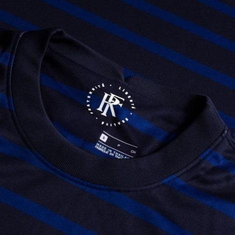 Домашняя футболка Франции на Чемпионат Европы 2020-21 воротник