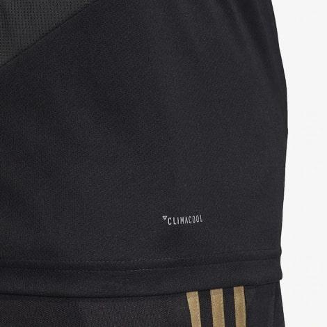 Тренировочная черно-золотая футболка Реал Мадрид 19-20 сбоку
