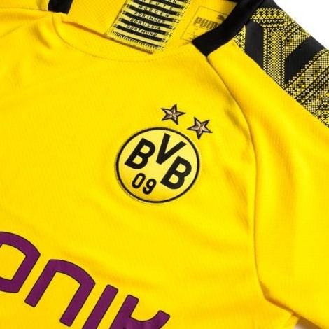 Домашняя футболка Боруссии Дортмунд 2019-2020 Торган Азар герб клуба