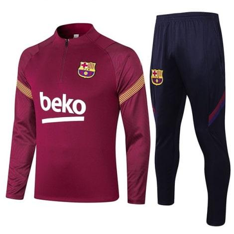 Бордово-синий костюм Барселоны 2020-2021